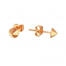 Stainless Steel Rose Gold Plated Stud Earring - SSE00102RGP
