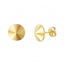 Stainless Steel Gold Plated Earring - SSE00103GP