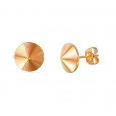 Stainless Steel Rose Gold Plated Stud Earring - SSE00103RGP