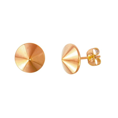 Wholesale Stainless Steel Rose Gold Plated Stud Earring - SSE00103RGP