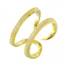 Sterling Silver Gold Plated Entangling Ring -  STR01022GP