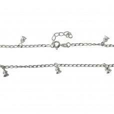 Sterling Silver Multi Bell Anklet - A017