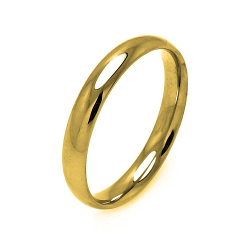 Wholesale Men's Stainless Steel Gold Color Ring 4mm - SRB002GP