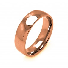 Wholesale Men's Stainless Steel Rose Gold Color Ring 7mm - SRB005R