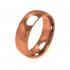 Wholesale Men's Stainless Steel Rose Gold Color Band Ring 8mm - SRB006R