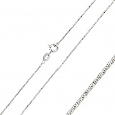 Wholesale Sterling Silver 925 Rhodium Snake Round Magic 020 DC Chain 0.85mm - CH136 RH