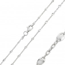 Wholesale Sterling Silver 925 Rhodium Plated Twisted Disc Link 030 Chains - CH117 RH
