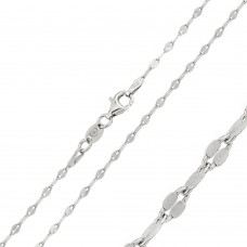 Wholesale Sterling Silver 925 Rhodium Plated Open Confetti DC Link 030 Chain - CH125 RH