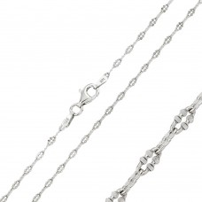 Wholesale Sterling Silver 925 Rhodium Plated Diamond Cut Oval Link 030 Chain - CH116 RH