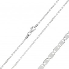 Wholesale Sterling Silver 925 Rhodium Plated Oval Flat Confetti 025 Chain 1.6mm - CH126 RH