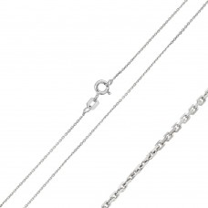 Wholesale Sterling Silver 925 Rhodium Plated Cable 020 Chain 1mm - CH239 RH