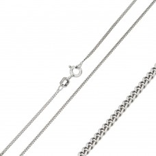 Wholesale Sterling Silver 925 Rhodium Plated Curb 035 Chain 1.2mm - CH300 RH