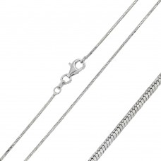 Wholesale Sterling Silver 925 Rhodium Plated Twisted DC Round Snake 020 Chain - CH134 RH