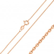 Wholesale Sterling Silver 925 Rose Gold Plated Anchor DC 030 Chain 1.1mm - CH178 RGP