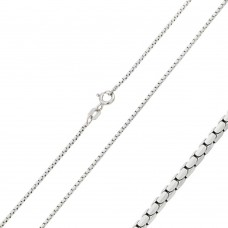 Wholesale Sterling Silver 925 Rhodium Plated Diamond V Cut Box 024 Chain 0.96mm - CH200 RH