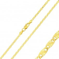 Wholesale Sterling Silver 925 Gold Plated Star DC Confetti Chain 2.5mm - CH359 GP