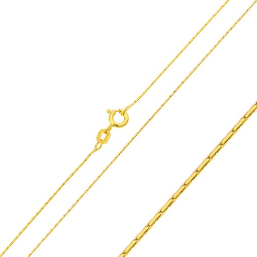 Wholesale Sterling Silver 925 Gold Plated Cardono Chain 0.6mm - CH363 GP