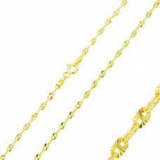 Wholesale Sterling Silver 925 Gold Plated DC Confetti Link Chain 2.2mm - CH360 GP