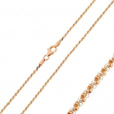 Wholesale Sterling Silver 925 Rose Gold Plated 2 Toned Rock 030 Chain 1mm - CH165 RGP