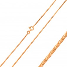 Wholesale Sterling Silver 925 Rose Gold Plated Snake Diamond Cut Slash 020 Chain 0.8mm - CH161 RGP