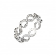Wholesale Sterling Silver 925 Rhodium Plated Infinity Eternity Ring - BGR00922