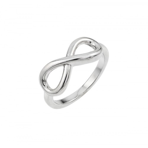 Wholesale Sterling Silver 925 Rhodium Plated Infinity Ring - BGR00820