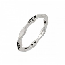**Closeout** Wholesale Sterling Silver 925 Rhodium and Black Rhodium Plated Clear CZ Eternity Ring - STR00878