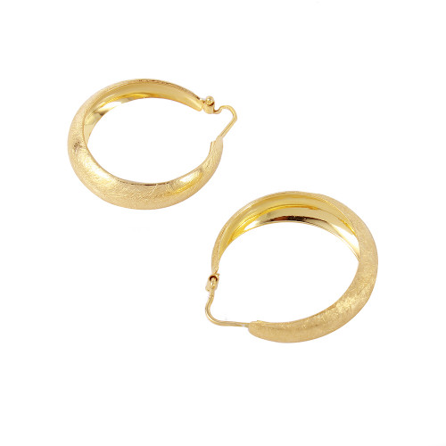 Wholesale Sterling Silver 925 Gold Plated Thin Armadillo Earrings - ITE00079GP