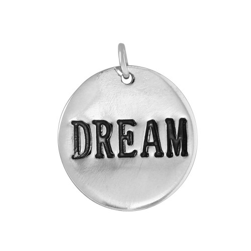 Wholesale Sterling Silver 925 'Dream' Engraved Pendant - CHARM006