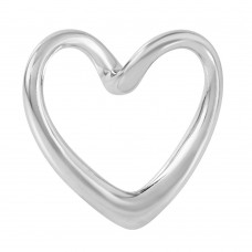 Wholesale Sterling Silver 925 Curved Open Heart Pendant - STP01173