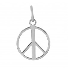 Wholesale Sterling Silver 925 Small Open Peace Symbol Pendant - STP01231