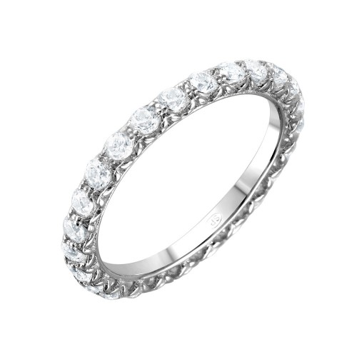 Wholesale Sterling Silver 925 Rhodium Plated CZ Infinity Ring - GMR00066