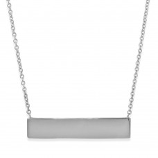 Wholesale Sterling Silver 925 Rhodium Plated Small ID Tag Pendant - AAP00002RH