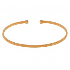 Wholesale Sterling Silver 925 Rose Gold Plated Flat Bangle - ARB00007RGP