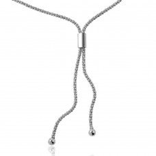 Wholesale Sterling Silver 925 Rhodium Plated Lariat Bar Italian Necklace - ARN00006