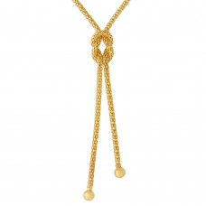 Sterling Silver Gold Plated Dangling Knot  Necklace - ARN00015GP