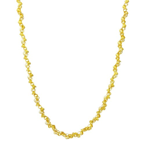 Wholesale Sterling Silver 925 Gold Plated Rolo Chain with Attached Rolo Spirals - ARN00035GP