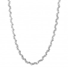 Wholesale Sterling Silver 925 Rhodium Plated Rolo Chain with Attached Rolo Spirals - ARN00035RH