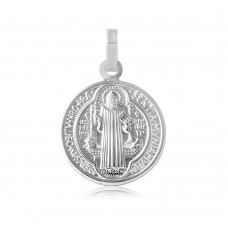 Wholesale Sterling Silver 925 High Polished Saint Benedict Medallion - ARP00002
