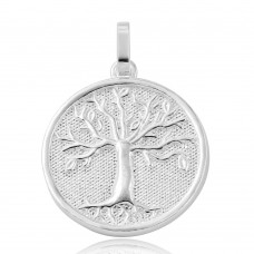 Wholesale Sterling Silver 925 Rhodium Plated Family Tree of Life Pendant - ARP00010