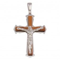 Wholesale Sterling Silver 925 Two Toned Medium Crucifix Pendant - ARP00030B