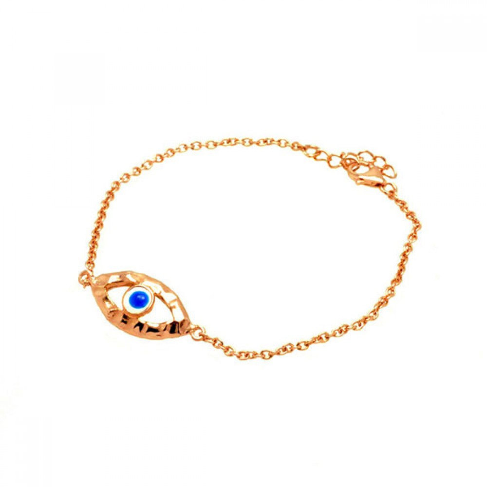 9627767c9f662 Wholesale Sterling Silver 925 Rose Gold Plated Open Evil Eye CZ ...
