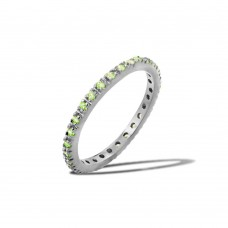 Wholesale Sterling Silver 925 Rhodium Plated Plated Birthstone Inlay Eternity Ring August - BGR00339AUG
