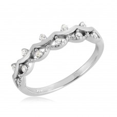 Wholesale Sterling Silver 925 Rhodium Plated Crown Ring - BGR01071