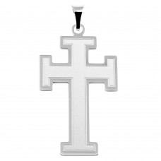 Sterling Silver High Polished Cross Pendant - BSP00036