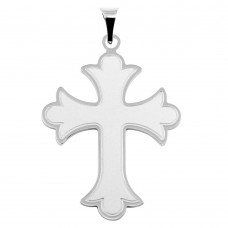 Sterling Silver Patonce Cross Pendant - BSP00038