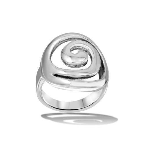 Wholesale Sterling Silver 925 High Polished Swirly Ring - CR00718