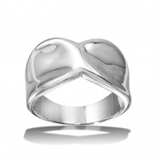 Wholesale Sterling Silver 925 High Polished Twist Ring - CR00720