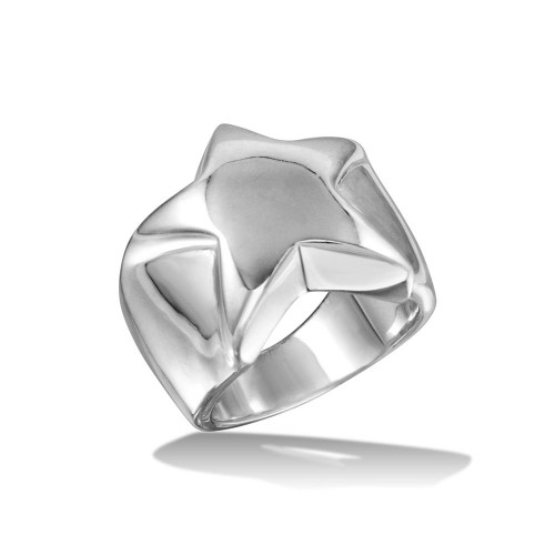 Wholesale Sterling Silver 925 High Polished Star Ring - CR00721