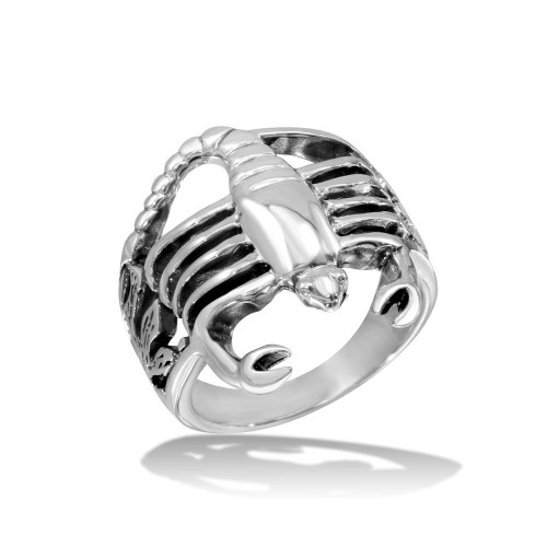 Wholesale Sterling Silver 925 High Polished Scorpion Ring - CR00723